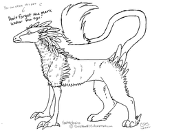 Free Featherbrain Lineart by CrossHound213