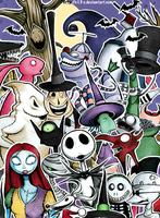 The Nightmare Before Christmas by SandraInk