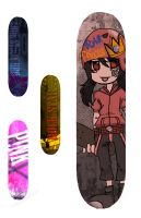 Skateboard deck Project by pandapunk143