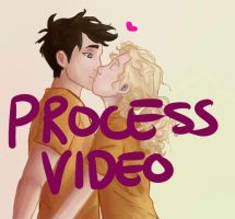 Percabeth Lines and Coloring Process Video by missmady