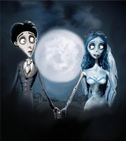 corpse bride and victor by Hare-Bo