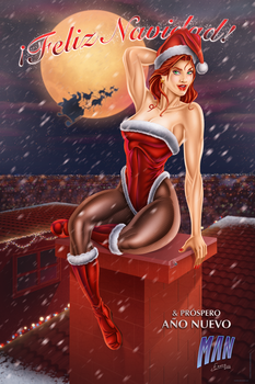 Christmas booty by manthx