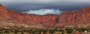 The Storm Above the Red Cliffs by mjohanson