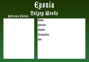 Eponia Tulgey Woods Application by The-Clockwork-Crow