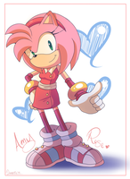 Amy In Sonic Boom by Domestic-hedgehog