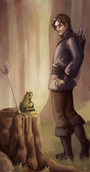 Ivan Tsarevich meets the Frog by DinaCardillo