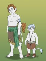 Gale and child Auron by Wazaga