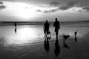 Men and dogs by SantiBilly