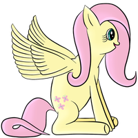 Happy Fluttershy Colored by silberhase