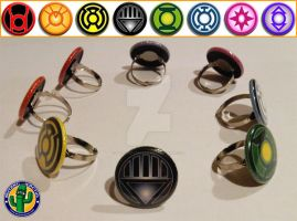 Blackest Night Toy Rings by Mutant-Cactus