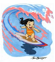 Lilo surfing by tombancroft