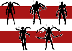 Character 1 development 1 silhouettes by digital-clown