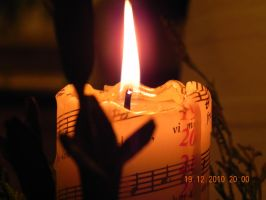 Christmas candle light by Hoejfeld