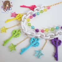 Rainbow Key Necklace by PeppermintPuff