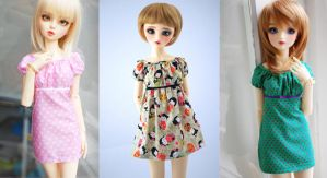 Summer dresses for SD13 and SD10 available NOW! by Miema-Dollhouse