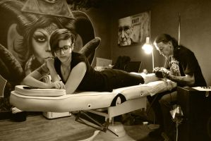 Tattoo in session 1 by FireFlyExposed