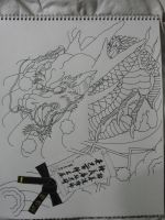 TKD Dragon Line Art by gdc1072