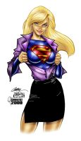 J. Scott Campbell Supergirl by Cahnartist