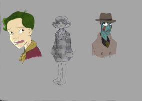 Metropolis Sketches by littlemisshufflepuff