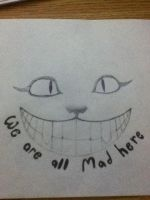 re-done cheshire cat for tattoo by alexxy55