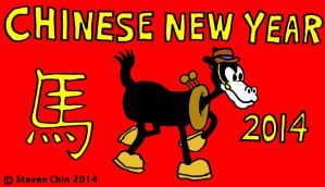 Chinese New Year 2014 - Horace Horsecollar by Rocket-Stevo