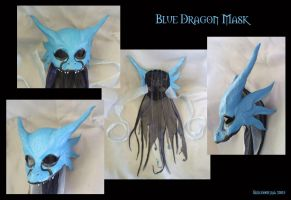 Blue Dragon Mask by Smilodonna