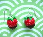 Strawberry Earrings by KawaiiCulture
