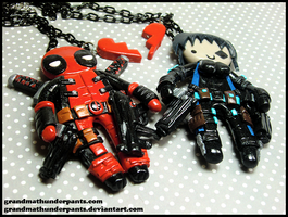 Deadpool + Domino BFF Set by GrandmaThunderpants