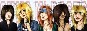 Guns N' Roses: The Band by Toejones