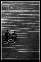 Highschool Stairs by tensai-riot
