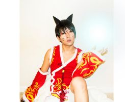 Male Ahri cosplay by loljuny