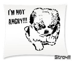 Im not angry STENCIL by EsseDue