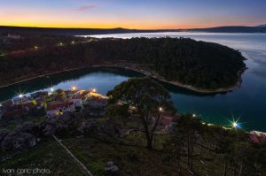 Waiting for the night above Novigrad by ivancoric