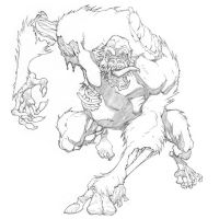 Zombie Ape by mikebowden