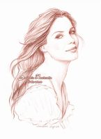 Sandra Bullock sketch by dh6art