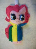 Pinkie Pie in Keeping Warm ornament series by grandmoonma