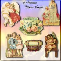 Vintage victorian clips in png by jinifur