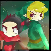 Link and Garu, Friend or Foe by madlinkplz