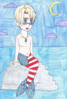 Mermaid!Hetalia - America by SwiftNinja91