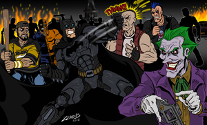 Arkham Fight by ZZoMBiEXIII