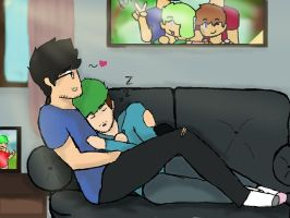 couch snuggles by SepticPlierWaffles
