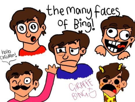 fiftythree the many faces of bing. by flowerdot