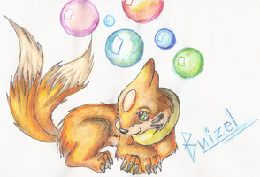 Pokemon: Buizel by Shira-Kitsune