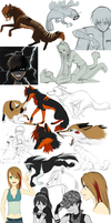Sketchdump 9 by GreeNissy