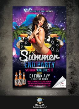 RUI Summer End Party 2013 (Poster) by GoodMonkey