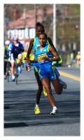 Elite Women Boston Marathon by padawan71