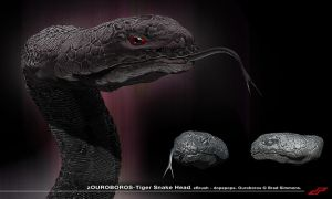 zOuroboros Tiger Snake Head by dopepope