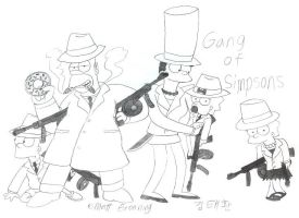The Gang of Simpsons by komi114