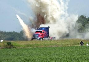 Optimus Action Scene In Michigan by TheLordandtheRing