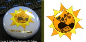 High Desert Drupal Pin Design by Catwoman69y2k